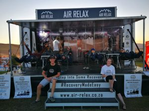 The Air Relax Recovery Zone offering a unique experience after each stage. Try the Air Relax recovery boots and shorts to boost your recovery and enhance your performance.